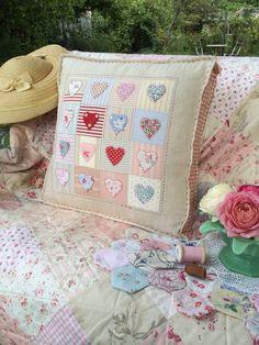 Cushion handmade by HenHouse (pattern by Jo Colwill)