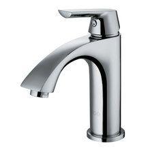 "View the Vigo VG01028 Single Handle Chrome Bathroom Faucet with Curved Spout and 5-1/16"" Spout Reach at Build.com."