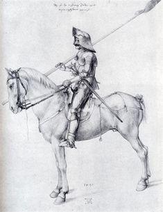 Man+In+Armor+On+Horseback,+1498+-+Albrecht+Durer