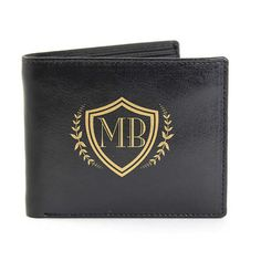 Personalised Black Shield Wallet :: Made with genuine leather for a final finish that simply cannot be beaten - Fast UK Delivery. Personalised Leather Wallet, Personalised Gifts For Him, Personalized Birthday Gifts, Christmas Stocking Fillers, Christmas Gifts, Fathers Day Gifts, Man Gifts, Practical Gifts, Black