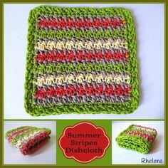 Summer Stripes Dishcloth ~ FREE Crochet Pattern