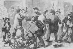 Harpers Weekly cartoon of the election of 1857