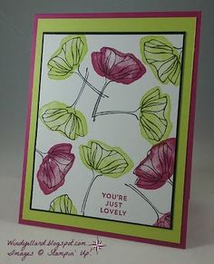 Windy's Wonderful Creations: You're Just Lovely, Stampin' Up!, Oh So Eclectic