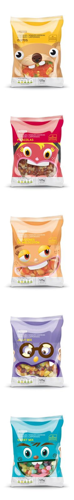 EROSKI snacks for the packaging smile file : ) Curated by Packaging Diva