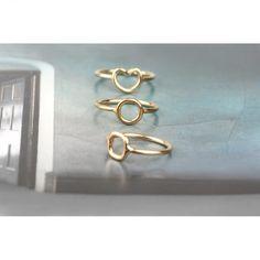 Anelli minimal in filo d'oro giallo con forme vuote _ cuore, tondo, quadrato _ maschio gioielli milano Gold Rings, Bracelets, Jewelry, Bijoux, Jewlery, Schmuck, Jewerly, Bracelet, Jewels