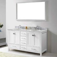 "Found it at Wayfair Supply - Caroline Avenue 60"" Double Bathroom Vanity Set with Mirror"