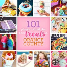 from ice cream to donuts, to shaved ice, to cupcakes, Orange County has tons of yummy places to get unique and tasty treats. Here are the BEST places. Orange County California, Irvine California, California Travel, Southern California, California California, Orange County Restaurants, The Oc, Orange Beach, Time To Celebrate
