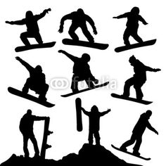 Snowboard Silhouettes DOWNLOAD THIS DESIGN ON FOTOLIA