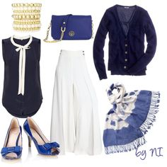 """Navy style hijab outfit"" on Polyvore"