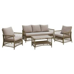 Find product information, ratings and reviews for Anabel 4pc All-Weather Wicker Patio Chat Set - Brown/Light Gray - Furniture of America online on Target.com.