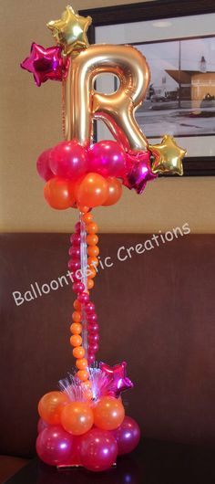 Design by Balloon Creations! Custom and Personalized always stands out above the rest! Pretty Pampered Parties can provide you with all your custom balloon decor needs!