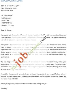Sample Application Letter For College In Industrial Psychology on