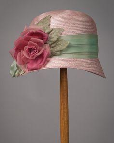 Minnie, parisisal, raspberry w/mint - Louise Green Millinery Derby Attire, Kentucky Derby Hats, Millinery Hats, Fancy Hats, Green Hats, Love Hat, Hat Shop, Hat Pins, Crochet Hats