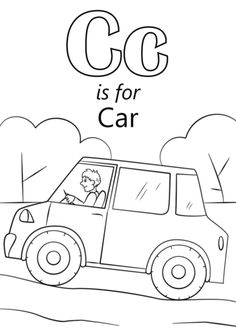 Letter C is for Car coloring page from Letter C category. Select from 26690 printable crafts of cartoons, nature, animals, Bible and many more.