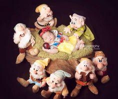 Disney inspired Snow White newborn photography photo shoot