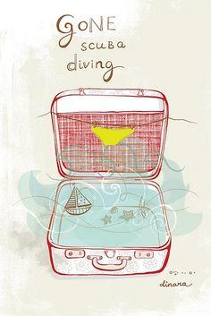 Gone scuba diving...