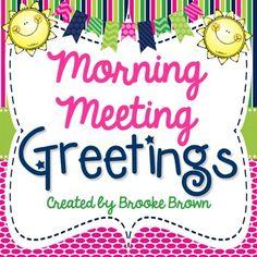 Morning Meeting Greetings