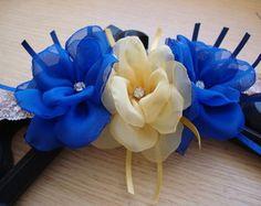 Diy Lace Ribbon Flowers, Fabric Flowers, Baby Hair Bands, Sassy Hair, Diy Hair Bows, Diy Hairstyles, Hair Clips, Embroidery, Bridal