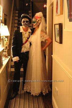 Awesome Homemade Dia De los Muertos Couple Costume ... This website is the Pinterest of costumes