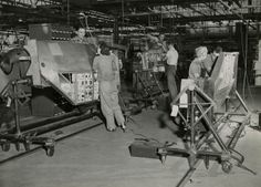Workers assembling P-38 Lightning fighters at the Vultee Aircraft Corporation factory, Nashville, TN, ca. 1941  Library Photograph Collection