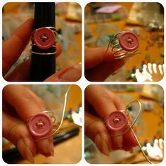 MAKE A WIRE WRAPPED RING..USE BUTTONS, BEADS, WHATEVER YOU WANT..