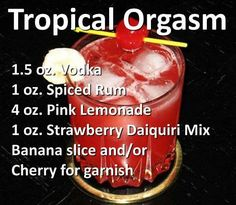 Swap spiced rum with coconut rum Liquor Drinks, Cocktail Drinks, Alcoholic Drinks, Mexican Cocktails, Party Drinks Alcohol, Bebidas Detox, Milk Shakes, Alcohol Recipes, Mixed Drinks