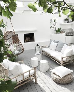 Terrace house design ideas, inspiration & pictures │homify - - Here you will find photos of interior design ideas. Get inspired! Terrasse Design, Outdoor Lounge, Outdoor Decor, Outdoor Lighting, Backyard Patio, Backyard Landscaping, Outdoor Furniture Sets, Backyard Furniture, Rattan Furniture