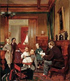 Johannes Adam Simon Oertel (Bavarian-born American artist, 1823-1909) The Colgate Family 1866