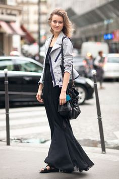 model's street style fashion on Haute Couture Paris 2013 #style #fashion #women