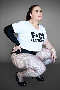 Gisela Ramirez Curvy Plus Size Fashion Model Fishnets. Yes F*ck Flattering!