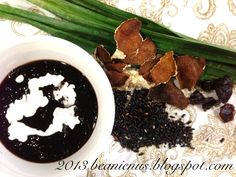 Try this classic Peranakan (straits Malacca Chinese) hot dessert with just 5 simple ingredients!  http://beanienus.blogspot.sg/2013/09/what-cooking-pulot-hitam.html