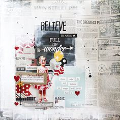 Believe Scrapbook Page by @Stephanie Close Close Schütze for @ScrapbookAdhesivesby3L and @SIMPLE Comunicación Comunicación Stories Blog Hop