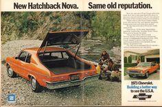 Vintage car 1970's | 1973 Chevrolet Nova Hatchback Ad May 21 1973