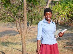 Education is fun at Likwenu Secondary School in Malawi.