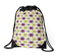 #DrawstringBag. Seamless pattern the yellow-violet by floraaplus