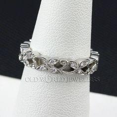 Platinum Diamond Wedding Band from oldworldjewelers on Ruby Lane