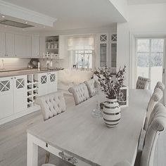 White Kitchen Ideas - White never ever falls short to provide a kitchen style an ageless look. These elegant cooking areas, including every little thing from white kitchen cabinets to smooth white . Decor, Interior Design Living Room, House Design, Dining Room Decor, Kitchen Design Decor, Interior Design, Home Decor, House Interior, Home Deco