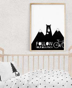 Kids Wall Art, BEAR Print, Black and White Prints, Nursery Decor, Kids Posters, Scandinavian Art, Quotes, Printable gift, Digital Download