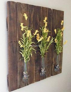 wood pallet plants decor art