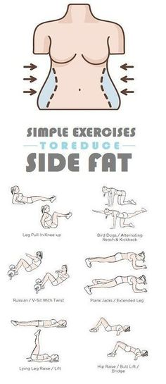 6 simple exercises to reduce side fat by cheri #abstraining