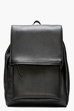 Marni Black Leather Backpack