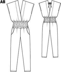 Jumpsuit pattern Burda