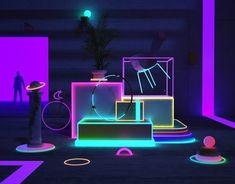 Random on Behance Interaktives Design, Stand Design, Display Design, Event Design, Stage Set Design, Sitemap Design, Nightclub Design, Light Art Installation, Neon Aesthetic