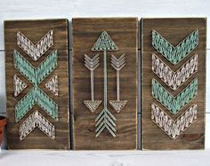 Tribal Arrows String Art by RileyandCoShop on Etsy