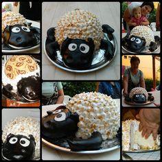 Sheep (from Farmerama game) cake for my Mother - Bárány torta Anyukám szülinapjára