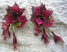 Oya Needle Lace Brooch by bazaarbayar on Etsy