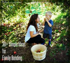Over 30 inexpensive and easy family bonding activities and ideas. These are all simple, do-able, everyday things your family can do to foster your connection.