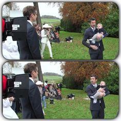 """Colin on set of """"Bridget Jones's Baby"""" Bridget Jones Movies, Bridget Jones Baby, Mr Darcy, Colin Firth, Rachel Green, Scene Photo, On Set, Behind The Scenes, Actors"""