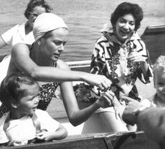 """EVGENIA GL PRINCE GRACE WITH CALLAS HAPPY YEARS IN ONASSIS YACHT eternally-grace: """" Princess Grace with daughter Princess Caroline and her friend and opera singer Maria Callas. """""""