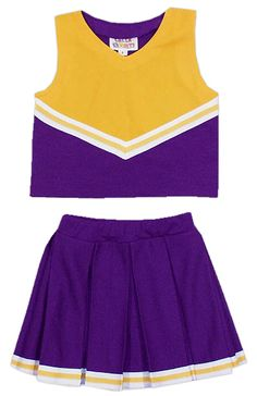 Shell & Full Pleated Skirt Cheer Uniform, Custom Color - Cheer Kids Uniform $90.00 #bestdressedkids.com #childrensclothes